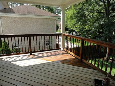 Painting and Staining a Deck